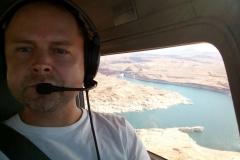 Nad jezerem Lake Powell, Utah/Arizona, USA