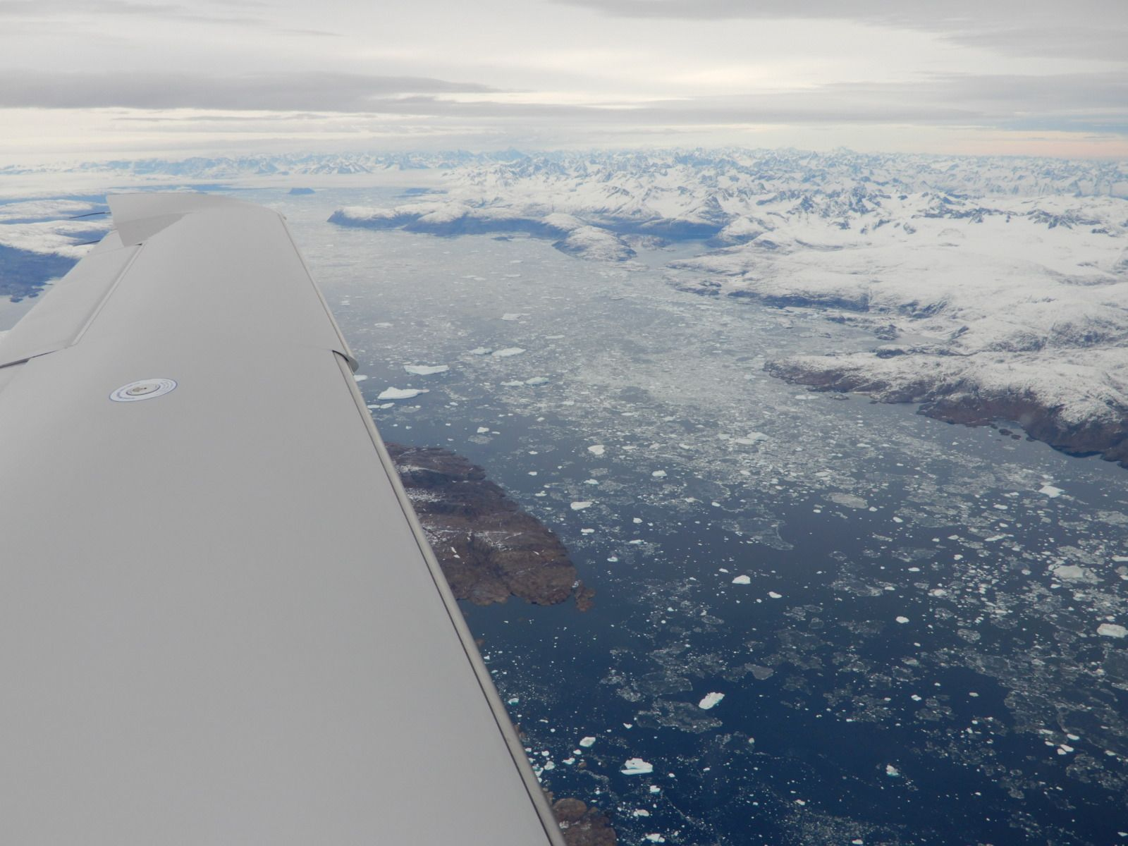 Ledové kry v jednom z grónských fjordů