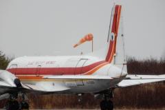 Hawker Siddeley HS-748 na letišti La Grande Riviere (CYGL)