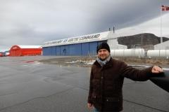 Po přistání Grónsku na letišti Sondre Stromfjord.