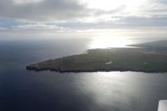 Nejsevernější část Skotska s letištěm Wick (EGPC). Tolik vytoužený pohled po nekonečných 4 hodinách letu z islandského Keflaviku.