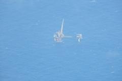 Ropné plošiny v severním moři. Téměř každá má svůj heliport a všechny jsou zaznamenané v databázi Garmin G1000