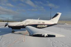 Ranní příprava na odlet. Letiště Bangor (KBGR), stát Maine