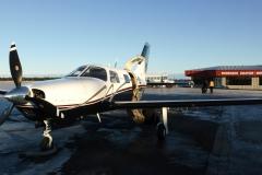Zledovatělé kanadské letiště Goose Bay, Happy Valley (CYYR)