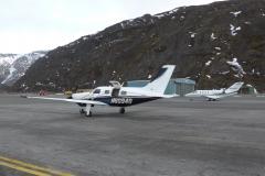 Mezipřistání v Grónsku, letiště Narsarsuaq (BGBW)