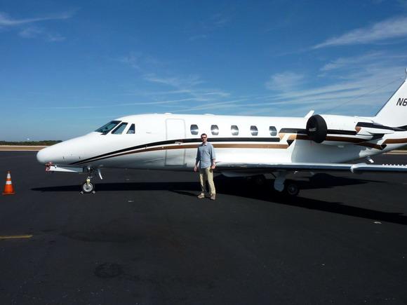 Business jet typu Cessna Citation Excel na letišti ve Vero Beach (KVRB)