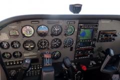 Palubní deska za letu v okolí jezera Okeechobee