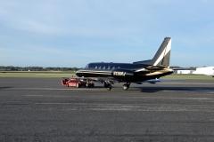 Orlando Executive airport (KORL). Old-timer mezi soukromými jety, Rockwell Sabreliner. Skvost pro spottery.