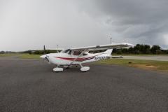Únik před silnou bouřkou na letišti Umattilla (X23)