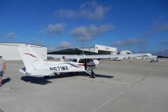 Poprvé s Cessnou 172R a hned z mezinárodního letiště Sanford (KSFB)